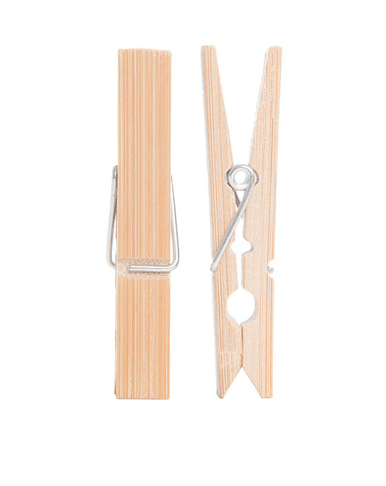 Bamboo Biodegradable Clothes Pegs Natural