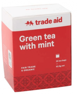 Trade Aid Organic Green Tea with Mint