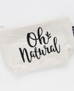 Oh Natural Organic Makeup Bag