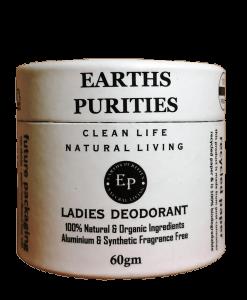 earths purities ladies natural deodorant