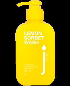 lemon_sorbet_wash_skin juice