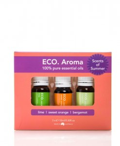 ECO. SCENTS OF SUMMER AROMA TRIO – LIME, SWEET ORANGE & BERGAMOT