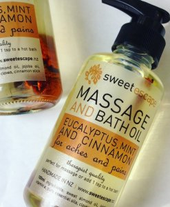SWEET ESCAPE EUCALYPTUS, MINT & CINNAMON – BATH & MASSAGE OIL