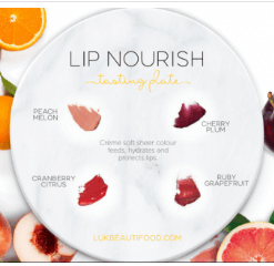 luk beautifood lip nourish new tasting plate