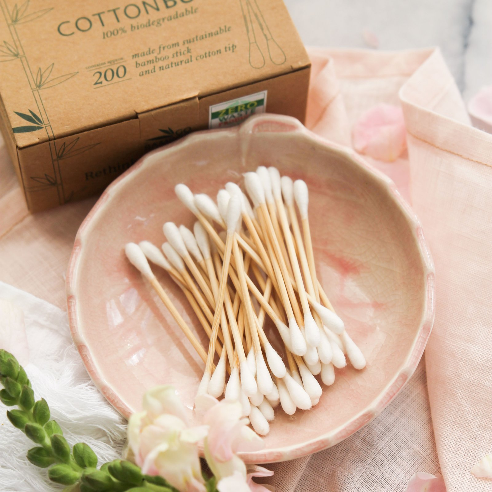 Go Bamboo Biodegradable Cotton Buds Oh Natural
