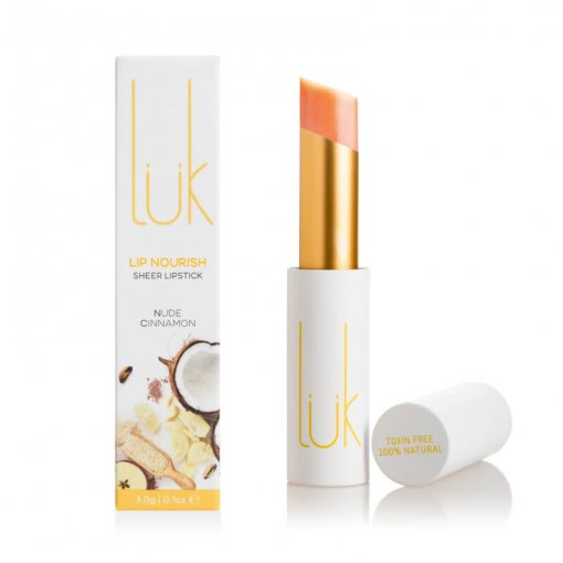LUK BEAUTIFOOD LIP NOURISH – NUDE CINNAMON