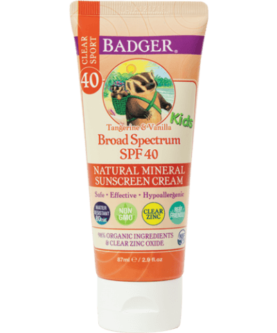 Badger Kids Sport Sunscreen Clear Zinc SPF 40