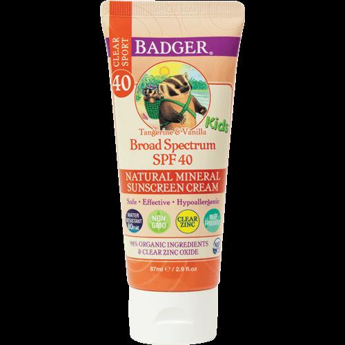Badger Kids Sport Sunscreen Clear Zinc SPF 40