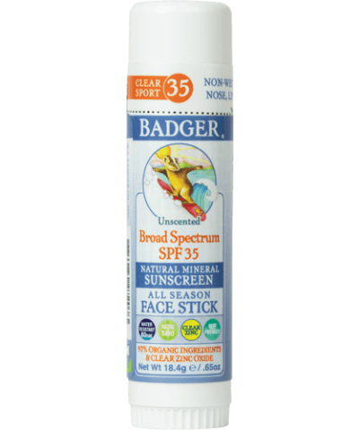 Badger Clear Zinc Sunscreen Stick SPF 35