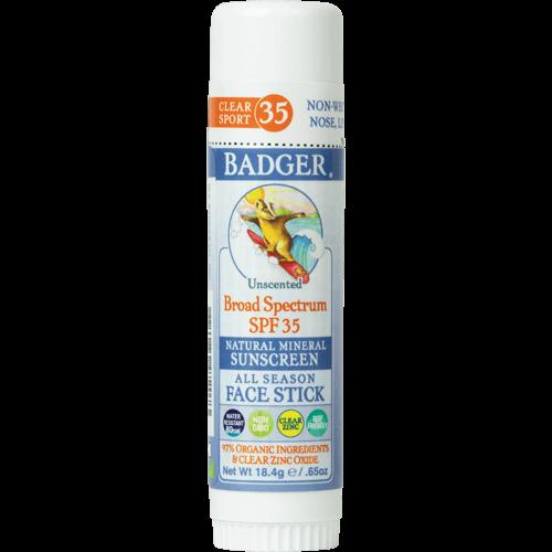Badger Clear Zinc Sunscreen Stick SPF 35