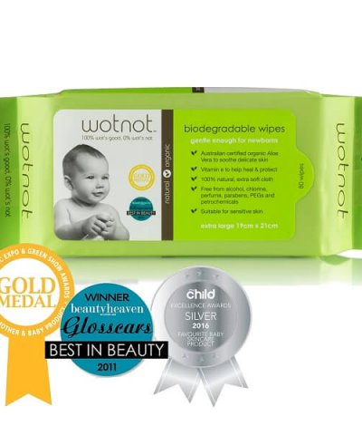 WOTNOT BIODEGRADABLE WIPES – 70pk