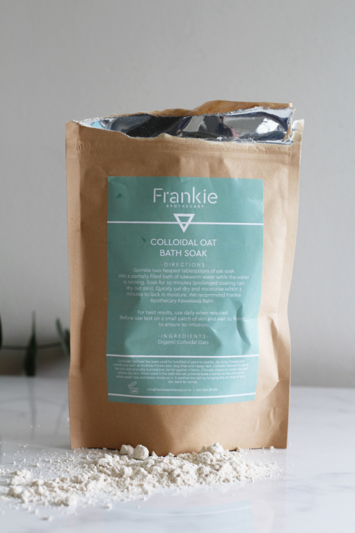 FRANKIE APOTHECARY COLLOIDAL OAT BATH SOAK FOR DRY, ITCHY SKIN