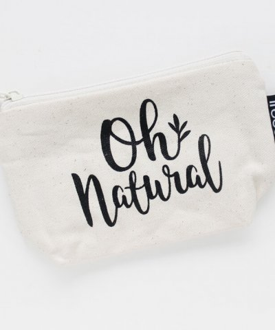 OH NATURAL ORGANIC, FAIR TRADE MAKEUP POUCH