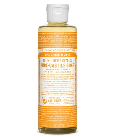 DR BRONNERS 18-IN-1 PURE CASTILE SOAP – CITRUS