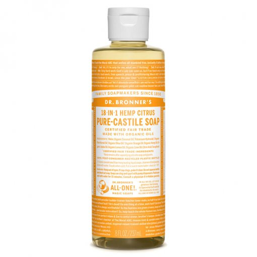 DR BRONNERS 18-IN-1 PURE CASTILE SOAP – CITRUS