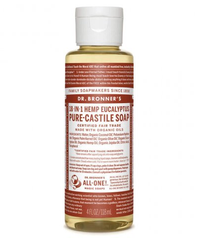 DR BRONNERS 18-IN-1 PURE CASTILE SOAP – EUCALYPTUS
