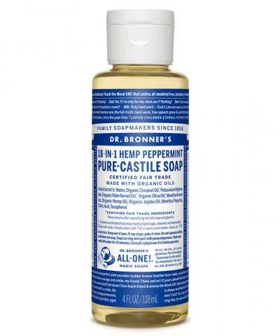 DR BRONNERS 18-IN-1 PURE CASTILE SOAP – PEPPERMINT