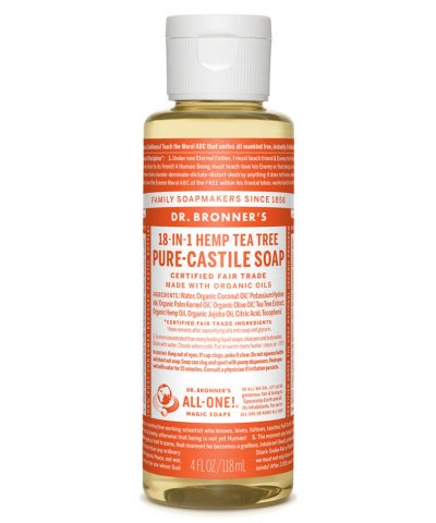 DR BRONNERS 18-IN-1 PURE CASTILE SOAP – TEA TREE