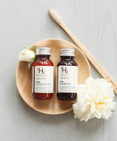 HOLISTIC HAIR PURE SHAMPOO & CONDITIONER TRAVEL SET