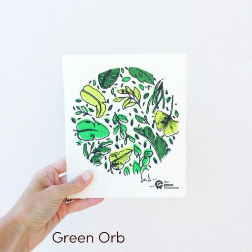 THE GREEN COLLECTIVE – SPRUCE COMPOSTABLE  DISH & CLEANING CLOTHS