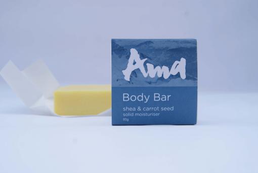 AMA BALM BODY BAR (SOLID MOISTURISER) – SHEA & CARROT SEED