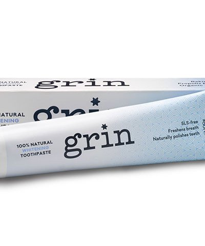 GRIN 100% NATURAL WHITENING TOOTHPASTE