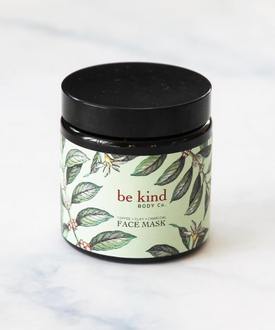 BE KIND BODY CO. – CLAY CHARCOAL + COFFEE MASK