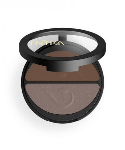 INIKA ORGANIC PRESSED MINERAL EYESHADOW DUOS – CHOC COFFEE