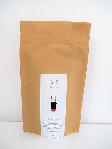 SILK TEA – ORGANIC HOJICHA *BIODEGRADABLE POUCH*