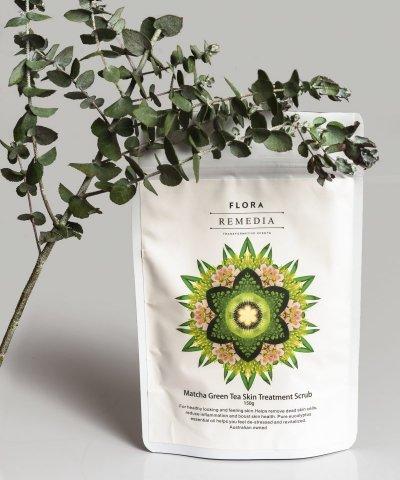 FLORA REMEDIA MATCHA GREEN TEA SKIN TREATMENT SCRUB