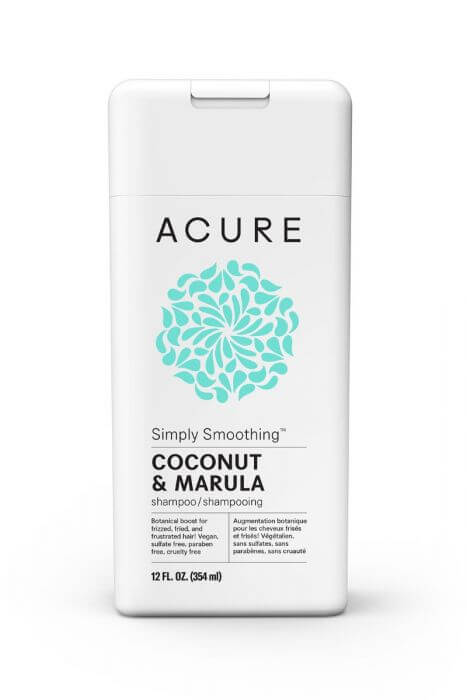 ACURE ORGANICS SIMPLY SMOOTHING SHAMPOO – WITH COCONUT & MARULA