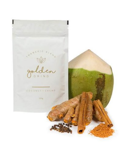 GOLDEN GRIND TURMERIC BLEND – COCONUT & CACAO