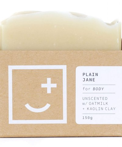 FAIR + SQUARE SOAPERY – PLAIN JANE UNSCENTED MULTIPURPOSE WASH FOR SENSITIVE SKIN