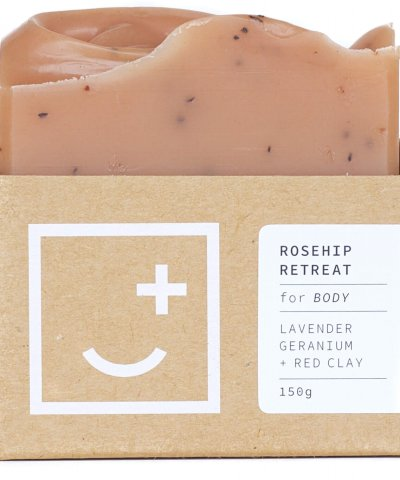 FAIR + SQUARE SOAPERY – ROSEHIP RETREAT EXFOLIATING BODY WASH