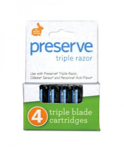 PRESERVE TRIPLE RAZOR REPLACEMENT BLADES