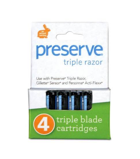 PRESERVE TRIPLE RAZOR REPLACEMENT BLADES