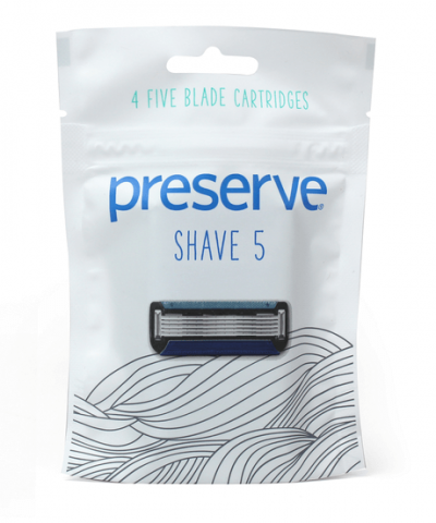 PRESERVE – SHAVE 5 RAZOR REPLACEMENTS BLADES