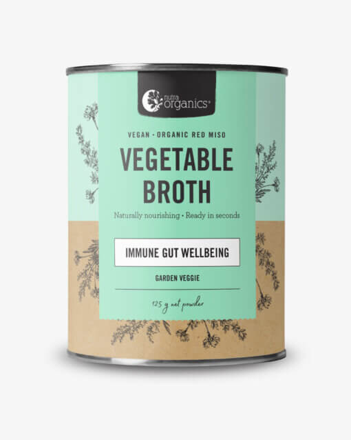 Nutra Organics VEGETABLE BROTH GARDEN VEGGIE 125G