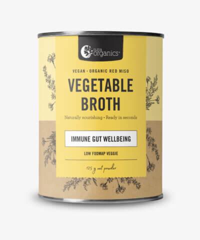 Nutra Organics Vegetable Broth Immune Gut Wellbeing Low FODMAP Veggie