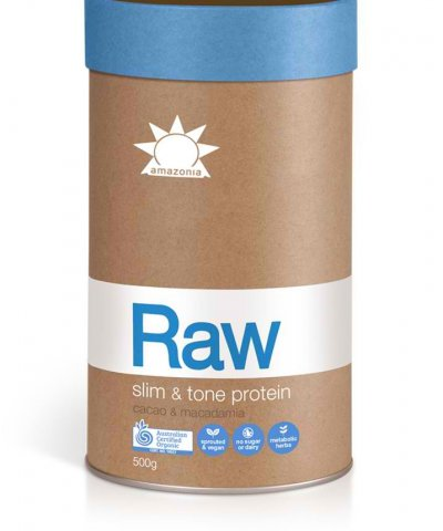 "AMAZONIA RAW ""SLIM AND TONE PROTEIN"" – CACAO & MACADAMIA"