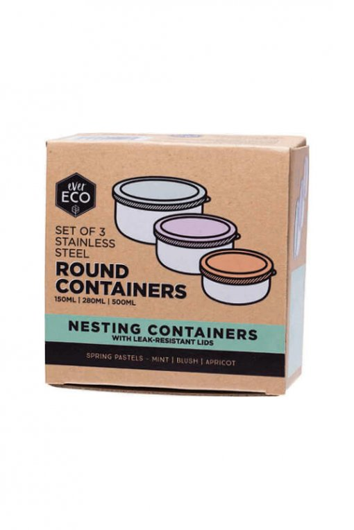 EVER ECO STAINLESS STEEL NESTING CONTAINERS
