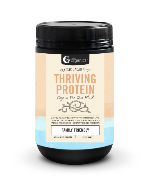 NUTRA ORGANICS THRIVING PROTEIN – CACAO CHOC