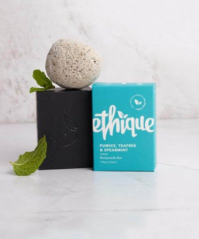 ETHIQUE PUMICE, TEATREE & SPEARMINT BODYWASH BAR