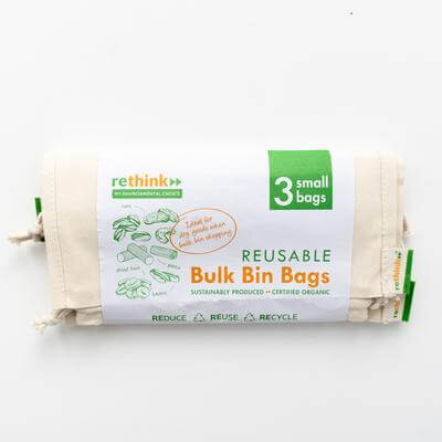 RETHINK REUSABLE BULK BIN BAGS SMALL – 3 PACK