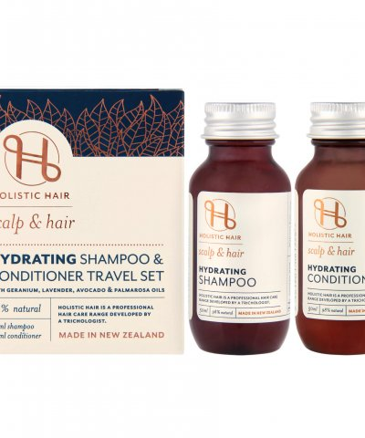 HOLISTIC HAIR HYDRATING SHAMPOO & CONDITIONER TRAVEL SET