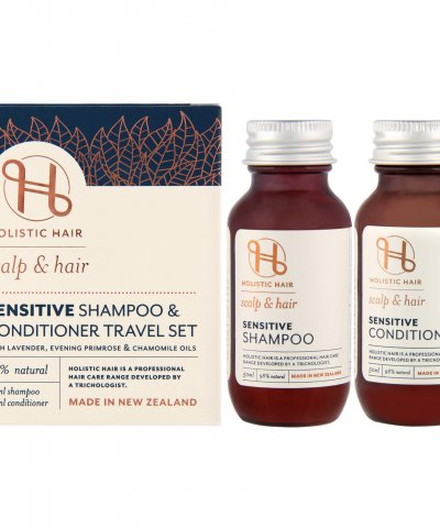 HOLISTIC HAIR SENSITIVE SHAMPOO & CONDITIONER TRAVEL SET
