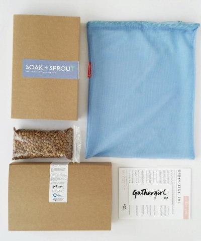 THE GREEN COLLECTIVE / GATHER GIRL SOAK + SPROUT KIT – the complete DIY sprouting pack