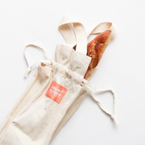 RETHINK REUSABLE BREAD BAG – LONG / BAGUETTE