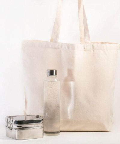 RETHINK CANVAS REUSABLE SHOPPING BAG