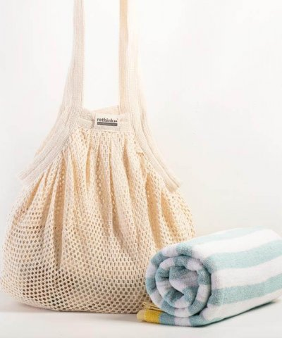RETHINK COTTON STAR NET BUCKET BAG